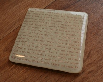 1 x Literary Coaster - made to order with any out of copyright book