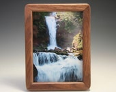 Patented Magnetic Walnut 5x7 Picture Frame (RR 7423)