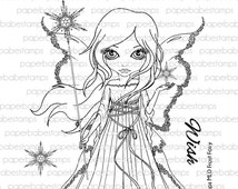 MayLeeDee Frost Fairy - Paperbabe Stamps - Clear Photopolymer Stamps - For paper crafting and scrapbooking.