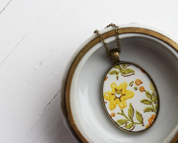 Vintage Wallpaper Necklace