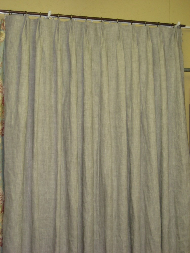 linen drapery panels single double triple width drapery