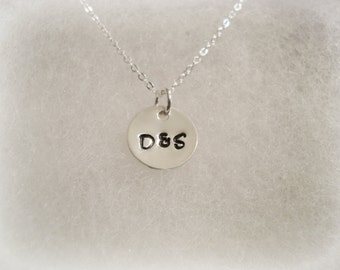 Couple Initials Simple Sterling Silver Necklace