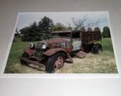 Farm Truck Photo - The Old Farm Truck - 8 x 10 Photograph - Photo Print - Family Farm Truck - Rusty Farm Truck Photo