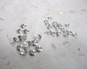 Sterling Silver Small Plain Bead Caps Lot