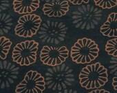 Block Print Cotton Fabric: Flowers - half metre