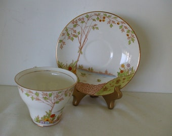 Rosina Cup - Saucer Set, Made In England, Vintage Fine Bone China,  Home Decor,  #5348