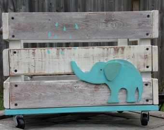 Distressed Elephant Crate