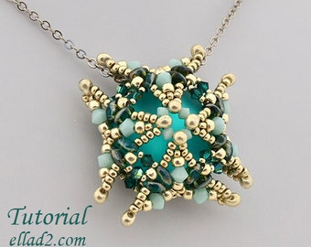 Tutorial Luna Square Pendant - Jewelry tutorial PDF