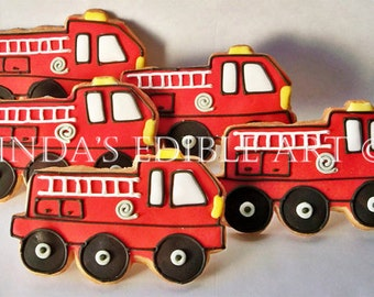 Firetruck Cookies (1 Dozen)