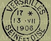 STENCIL Vintage French Versailles Postage Stamp 7 Inch