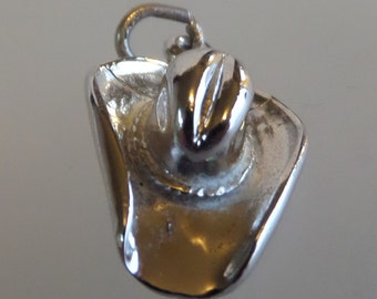 COWBOY COWGIRL HAT Sterling Silver Charm or Pendant