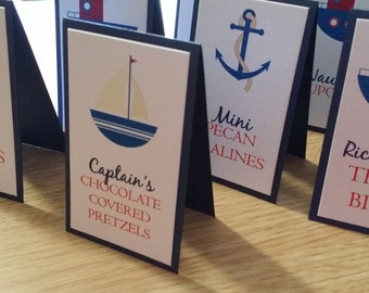 Nautical Candy Buffet Tags