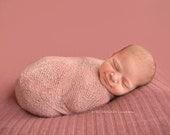 Blush Pink Stretch Knit Wrap Newborn Baby Photography Prop