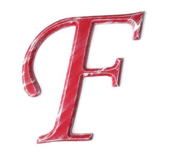 Items similar to Decorative Wall Letter F hand painted ...