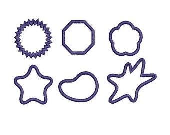 Applique Frames Applique Design Digitized Machine Embroidery Design - 4x4 5x7 6x10 - Instant Download