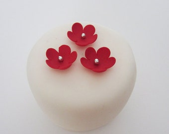 edible sugar xx-small flowers set of 36 color of your choice