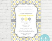Cute as a Button Baby Shower Invitation - Printable
