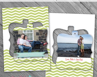 INSTANT Download - Holiday - Believe Luxe Pop Christmas Card No. 2 - 5x7 photo card templates for photographers on Millers Lab Specs