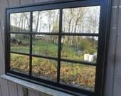 34 x 48  Black distressed  mantel wall mirror