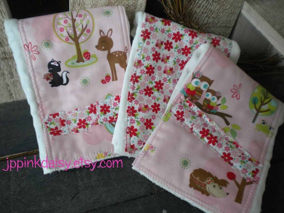 5 diy Fabric Burp Cloth MAKE YOUR OWN 5 White by jppinkdaisy