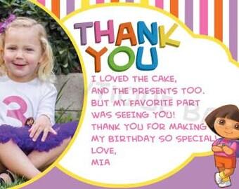 DIY Dora thank you card