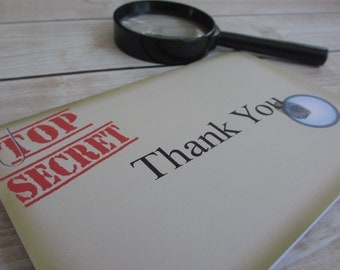 Spy Party Thank You Notes - Secret Agent Collection