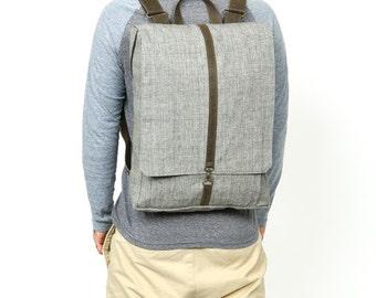 "XL,Grey Backpack, 21"" screen bag, Padded Laptop bag Portfolio bag -Roxanna in Gray"