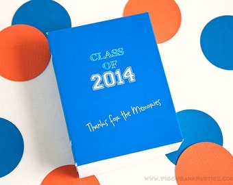 Yearbook Favor Box - BLUE : DIY Printable Graduation Gift Box - Instant Download