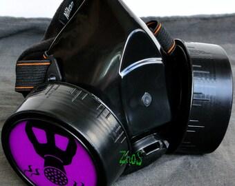 Cyber Mask Cyber Goth Respirator Black  Gas Mask  BIOHAZARD