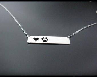 Bar Pendent (Dog Heart)