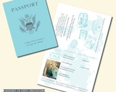 Passport Invitation - Travel Theme Invitation - Personalized Printable File or Print Package Available - l #00030-FCIA2