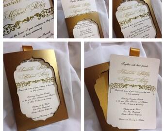 Moroccan Dream -- Couture Wedding Invitation --