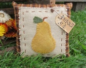 Primitve Pear Pillow Bowl Filler Cupboard Tuck