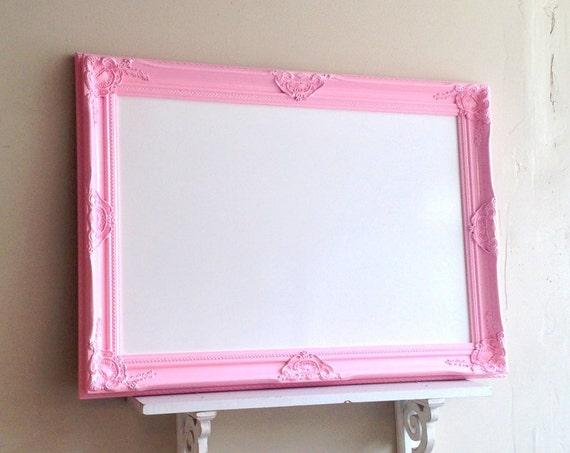 Framed Whiteboard Dry Erase Board Pink Magnetic By
