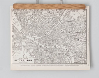 Pittsburgh 1930s Map | Antique Pennsylvania City Map