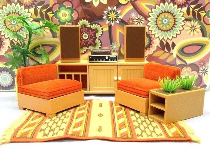 Tomy dollhouse furniture 1970 39 s by thinkvintagemurphy on etsy for 60s kitchen set
