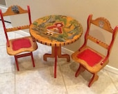 items similar to little red riding hood childrens table and chairs on etsy. Black Bedroom Furniture Sets. Home Design Ideas