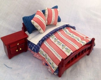 Dolls House Miniatures - 1/24TH  OR HALF INCH - Bed Set - Jodie