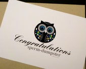 Funny Congrats on Pregnancy Note Card - Congratulations sperm-dumpster