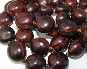 Spotted Ojo Beads, 2 Beads, Organic Beads, Natural Beads, EcoBeads