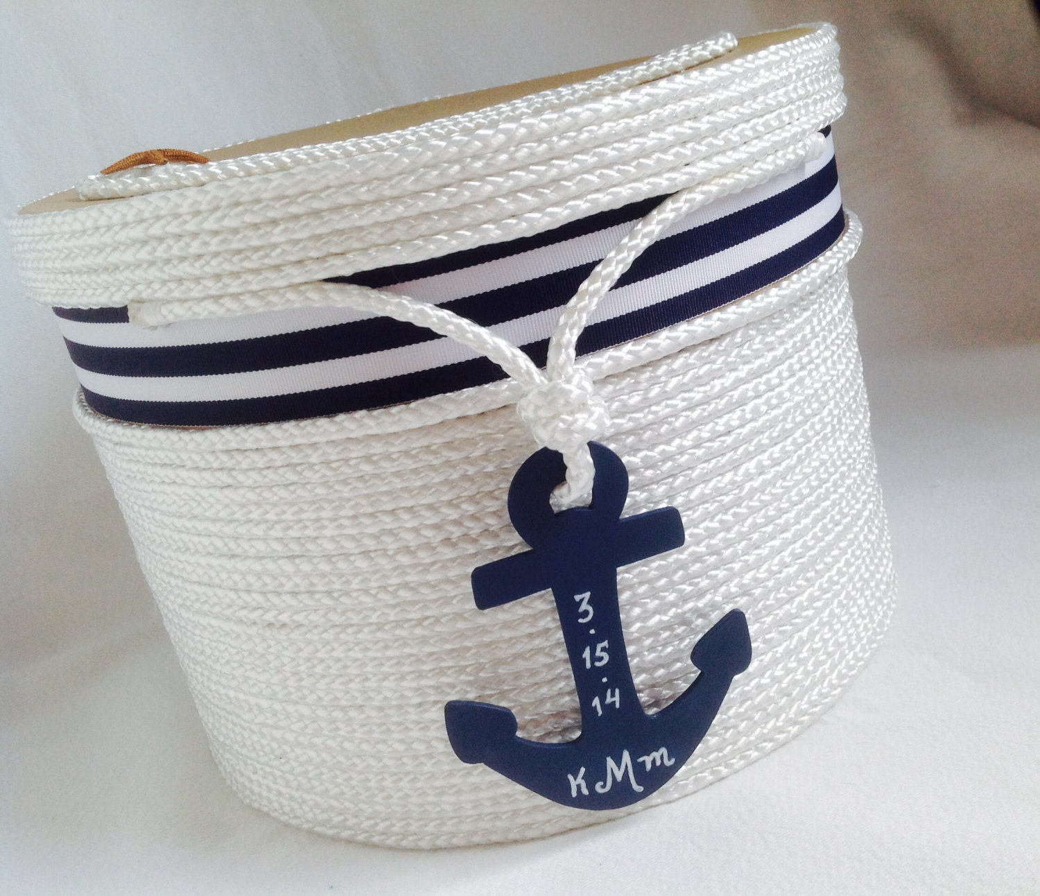 Nautical Wedding Gift Card Holder : Wedding Card Holder Beach or Nautical Theme Event