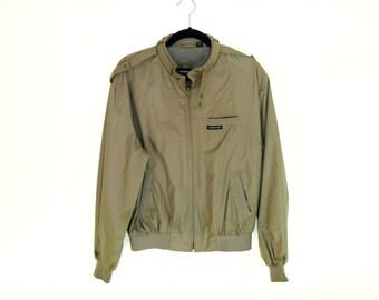 Vintage 80's Member's Only Iconic Cropped Bonded Racer Jacket Men's Large