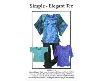 CNT Pattern Co. Simple Elegant Tee One Piece  T-Shirt Pattern Multisize Beginner Sewing Clothing