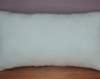 Solid White Cotton Lumbar Pillow Cover - Available In 3 Sizes