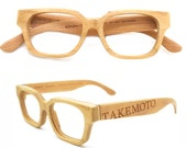American cherry wood TAKE handmade wooden brown glases MJX1304 big logo