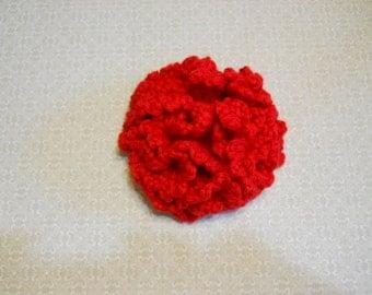 Crochet Carnation Flower in Red