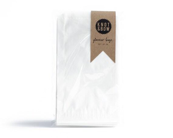25 Medium Glassine Bags