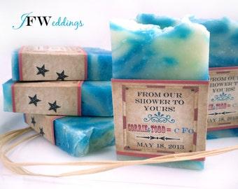 20 Vegan SOAP Favors | Rustic Barn Chic | Custom Labels | Bridal | Weddings | Cellophane bags | Made in 7 days