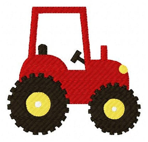 Embroidery Of Tractors : Embroidery design tractor farm joyful stitches