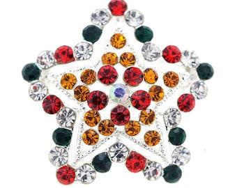 Multicolor Star Crystal Pin Brooch 1011213